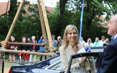 Koningin Máxima bij Scouting Hubertus-Brandaan