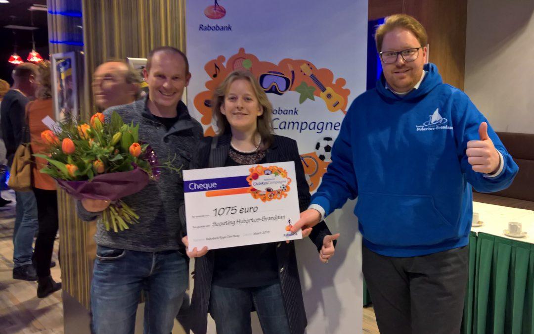 Hubertus-Brandaan dankbaar voor donatie Rabobank