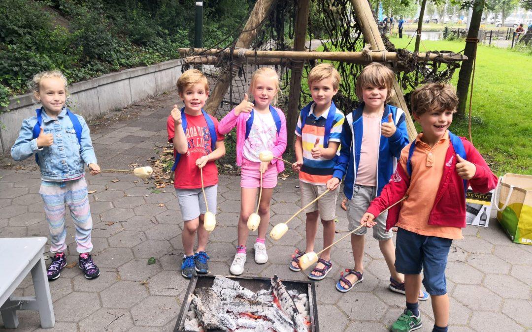School De Vijverhof doet huttentocht bij Scouting Hubertus-Brandaan