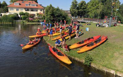 Lusthofschool waterfeest bij Hubertus-Brandaan