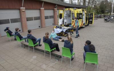 Wilde Vaart Hubertus-Brandaan krijgt ambulance op bezoek